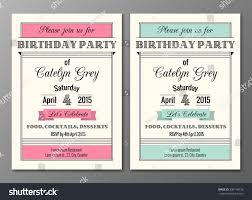 vector set art deco birthday party stock vector 236178733