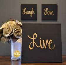 Gold Wall Decor by Live Laugh Black Gold 3 Wall Decor Set