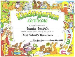 preschool graduation certificate kindergarten graduate certificate templates best professional
