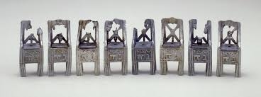 objects tell stories a hanukkah lamp made of eight small chairs