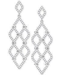 silver chandelier earrings swarovski silver tone pavé chandelier earrings fashion