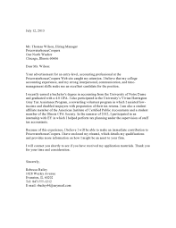 cover letter for internal job transfer cover letter to accounting firm