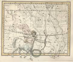 Rpi Map Schütze Sternzeichen Karte Drucken Antike Sternenkarte