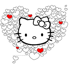 kitty coloring pages u0026 invites kid party