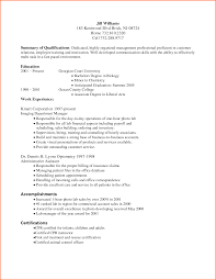 Resume Summary Of Qualifications 6 Resume Summary Examples For Collector Budget Template Letter