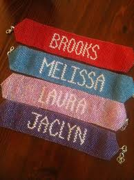 beaded bracelet name images 1 personalized name bracelet beaded peyote woven name cuff jpg