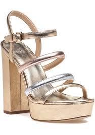 michael michael kors nantucket platform sandal gold multi jildor