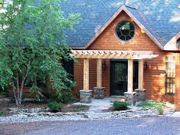 front entry timber pergola rockwood design group
