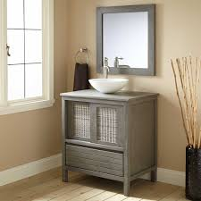 Grey Wood Bathroom Vanity 30