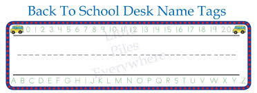 Desk Name Tags by Little Piles Everywhere Back To Desk Name Tags