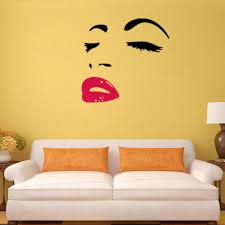 Diy Home Decor Wall Art Aliexpress Com Buy Woman Audrey Hepburn Wall Art Stickers