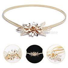 Flower Belts - metal chain floral belts for women ebay