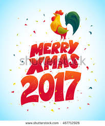 Graphic Design Holiday Cards Vector New Year Congratulation Design Rooster Stock Vector