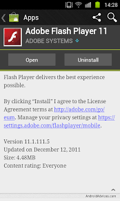 adobe flash player android apk flash player 11 1 apk for android phones