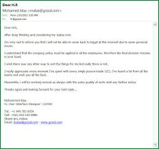 doc 585522 resignation email u2013 email resignation letter template