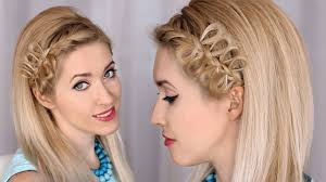 step to step hairstyles for medium hairs bow braid headband tutorial party hairstyle for medium long