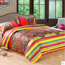 awesome bright colorful patterned cute hippie duvet covers