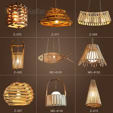 Japanese Chandeliers Style Creative Personality Bamboo And Rattan Chandeliers