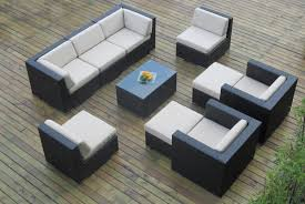 Patio Furniture Sectional Sets - ohana collection 10pc wicker outdoor sectional sofa set