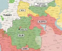 Map Of The Northwest Turkey Through The Syrian Looking Glass