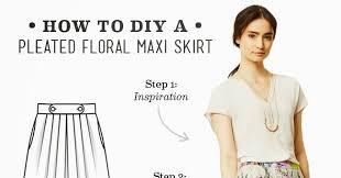 lula louise diy u2013 pleated floral maxi skirt