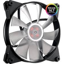 cooler master cpu fan cooler master masterfan pro 140 mm air flow rgb case fan w jet