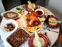 table full of food my kitchen snippets thanksgiving feast