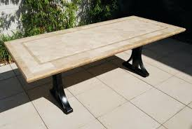 Travertine Patio Table Dining Room Furniture Ultra Modern Compact Travertine Table