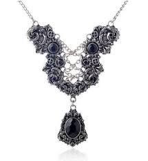 victorian necklace black images Victorian era inspired vintage necklace the enchanted forest jpg