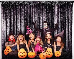 halloween party photo booth prop black sparkly sequin