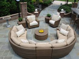 Curved Modular Outdoor Seating by Patio Furniture Half Round Patio Sofa Diy Coffee Table Plans