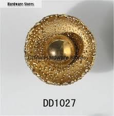 flower round ceramic knob gold plated antique furniture knob