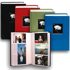 photo albums with memo area fabric frame bi directional memo photo album bright fabric covers