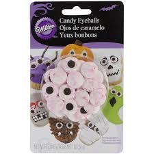 wilton halloween red vein candy eyeballs cookie cake decorations