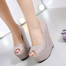 silver wedding shoes wedges aliexpress buy glitter shoes platform shoes high heels gold