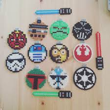 star wars christmas ornaments perler beads by