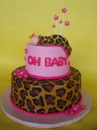 pink and leopard baby shower cake what u0027s more mod than a n u2026 flickr