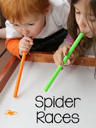 halloween kid birthday party ideas spider races sensory activities spider and activities
