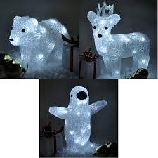 light up reindeer outdoor decoration merry and happy