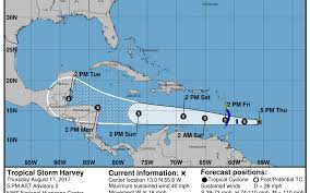 Central America And The Caribbean Map by Tropical Stormy Harvey Forms Bound For Caribbean Miami Herald