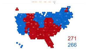 2004 Election Map by Hex Map Of U S Electoral Votes Vivid Maps