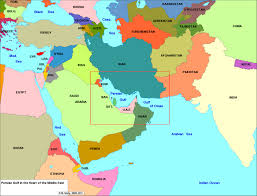 Middle East Map Labeled by Paul Luvera Journal Current Affairs