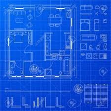 floor plan blueprint detailed illustration of a blueprint floorplan with various design