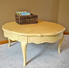 Cheap Furniture Round Yellow Coffee Table Sherwin Williams Bees Wax The Painted