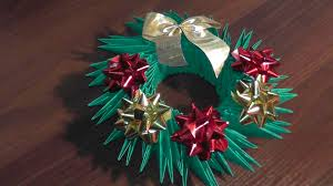 3d origami christmas wreath tutorial youtube