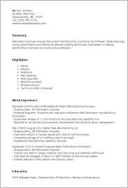 Resume Engineering Template Professional Fabrication Engineer Templates To Showcase Your