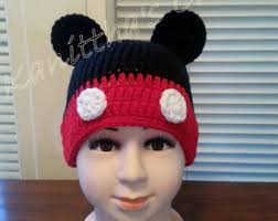 Mickey Mouse Toddler Costume Crochet Mickey Hat Etsy