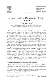 Famous Phd Thesis 100 Original Papers Case Study Dissociative Identity Disorder
