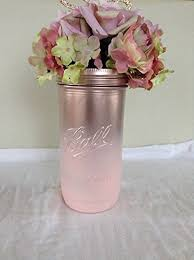 Vase Centerpieces For Baby Shower Amazon Com Rustic Chic Rose Gold And Pink Ombre Pint And A Half