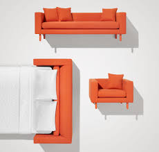 Comfortable Single Couch Mono Sofa Single Cushion Sofa Blu Dot